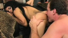 A horny pair of wild lovers indulge in some dirty anal licking