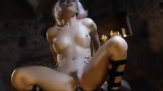 Enticing babe with big boobs Laura has a black guy punishing her peach