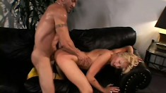 Staci Thorn sucks a long prick before it penetrates her needy snatch