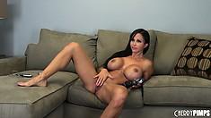 Jewels Jade tweaks her huge hooters and shows off her big round ass
