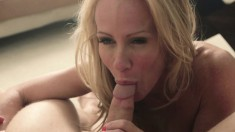 Lusty blonde gets naughty and mounts her son's vicious jackhammer