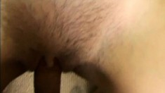 Anyssa St. James gets her hairy pussy fucked during a POV video
