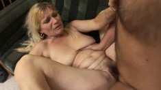 Slutty old mom Vivian gets her pussy pounded hard by a younger guy