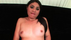 Cute babe with a spicy ass Ruby Luxe has a black guy banging her cunt