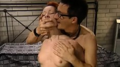 Lovely Redheaded Girl Tanya Gets On Top And Rides A Jackhammer