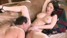 Saucy brunette can't wait to feel this dick deep inside her cooch