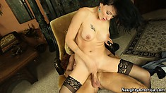 Zoey Holloway take his big long cock as deep as she can handle