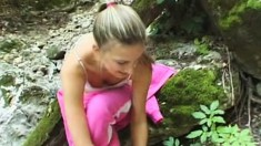 Insatiable Barbara Gets Naked In The Woods And Plays With Herself