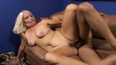 Big Breasted Granny Vikki Vaughn Surrenders Her Pussy To A Stiff Cock