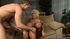 Claudia Marie stuns and shocks titty fan with monster knockers