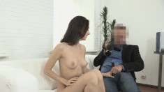 Long-haired Broad Is Excited To Let In This Stud's Rock-hard Manhood