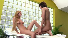 Irresistible Masseuse Brings Her Exciting Lesbian Fantasy To Fruition