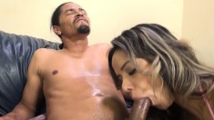 Buxom Nadia Styles has a black bull deeply banging her squirting peach