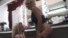 Voluptuous blondes Bridgett Kerkove and Czarrina expose their bodies