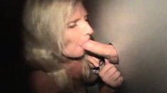Insatiable divorced lady Melissa stuffs her mouth with mystery poles