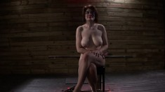 Nasty redhead with big boobs Velma DeArmond is addicted to submission