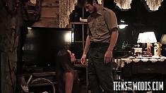 Kirsten Lee Slurps Up His Wanker Then Gets Her Cunny Hammered