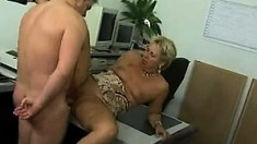 Nasty Blonde Mature Whore Enjoys A Very Big Cock