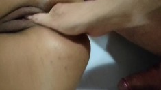 Hot Brunette Ass Drilled With Fist