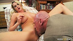 Blonde nymphomaniac gets some special treatment form her doctor