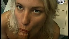 Mature blonde gets outdoors and shows her hungry wet vaginal hole