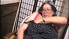 Bertha's mature snatch is yearning for a hard cock and a deep pounding