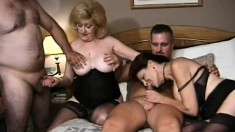 These naughty mature ladies love to get fucked hard by young stallions