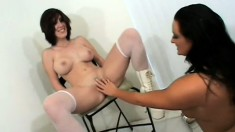 Crazy Extreme Holly gets freaky with paint and toys on her pal Melony