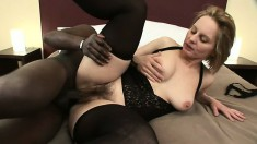 Nasty housewife seduces a big black stud into nailing her snatch