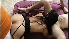 Two friends get themselves a hot Latin hooker and fuck her raw