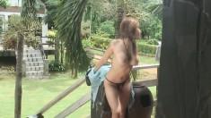 Kate Kumachum dresses up like a cowgirl and does a striptease
