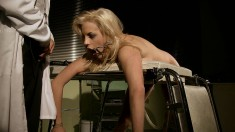 Dazzling blonde gets dominated and banged deep on the operating table