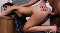 Madelyn gets fucked hard and deep from behind and screams with intense pleasure