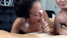 Two Hot Babes Sharring One Cock