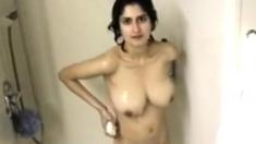 Big Tit Indian Milf Showering For Cam