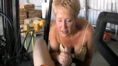 Blonde Amateur Gives Pov Blowjob Outdoors