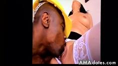 Licking big pussy lips