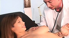 Her doctor gives her a prescription for a balls deep dicking
