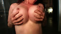 Uninhibited young chick satisfies her lust with a huge black rod