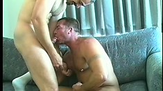 Hot gay lovers Patrick Ives and Clay Russell enjoy rough anal action