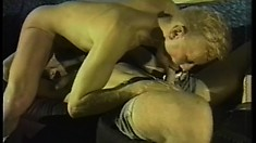 Cute college boys exchange blowjobs and enjoy hot anal sex on the couch
