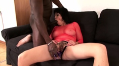 Hardcore interracial sex with cumshot in mouth
