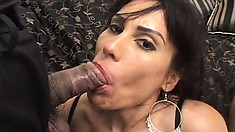 Slutty mature vixen in stockings gets her ass penetrated by crazy cocks