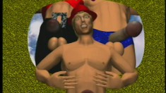 Gay Construction Workers Lay Down Long Pipe In This 3d Animation